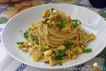 spaghetti orata e curry
