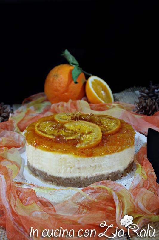 Cheesecake all'arancia al forno