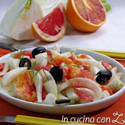 insalata di finocchi agrumi e zenzero