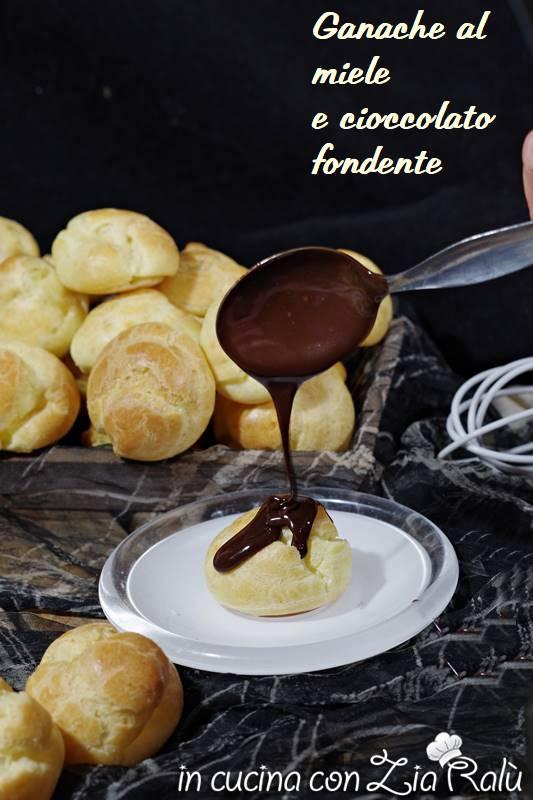 ganache al miele e cioccolato fondente