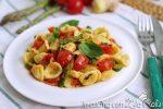 Orecchiette asparagi zenzero e pomodorini