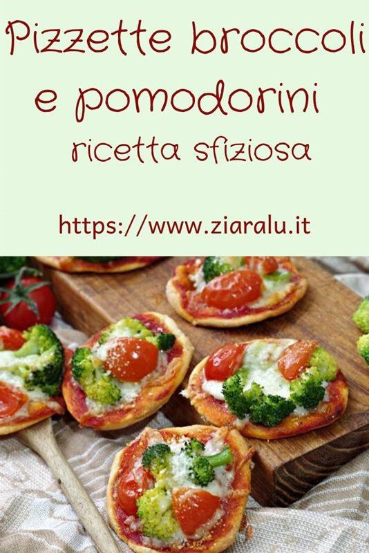 Pizzette broccoli e pomodorini