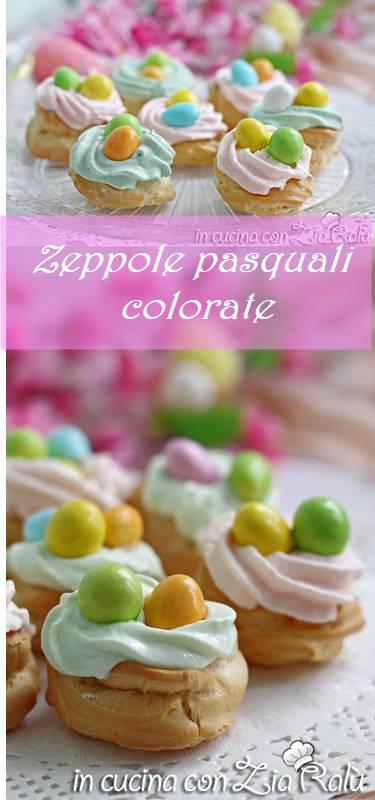 zeppole pasquali colorate