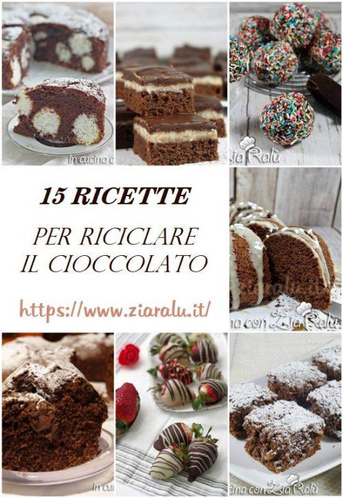 ricette per riciclare il cioccolato