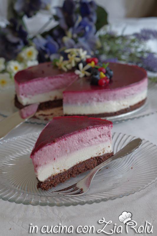 cheesecake senza glutine cocco e frutti di bosco
