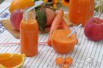 succo arancia carote e pesca fatto in casa
