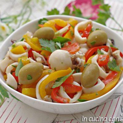 Insalata di seppie mediterranea ricetta light