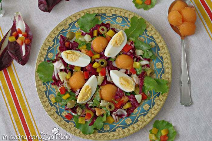 insalata uova e melone
