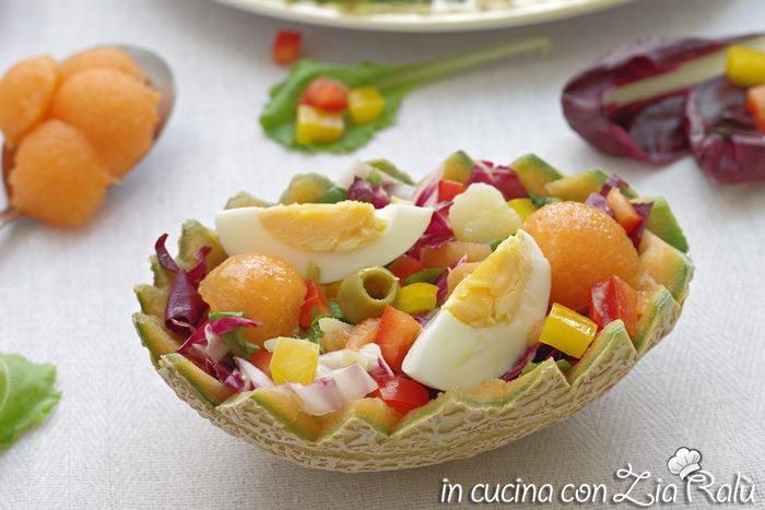 Insalata con uova e melone – ricetta light