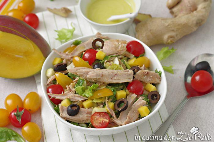 insalata di tonno e verdure