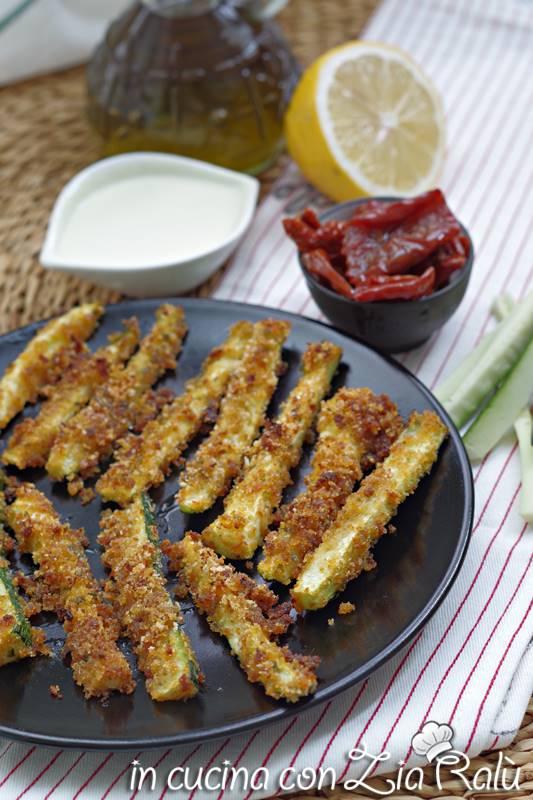 stick di zucchine croccanti al forno