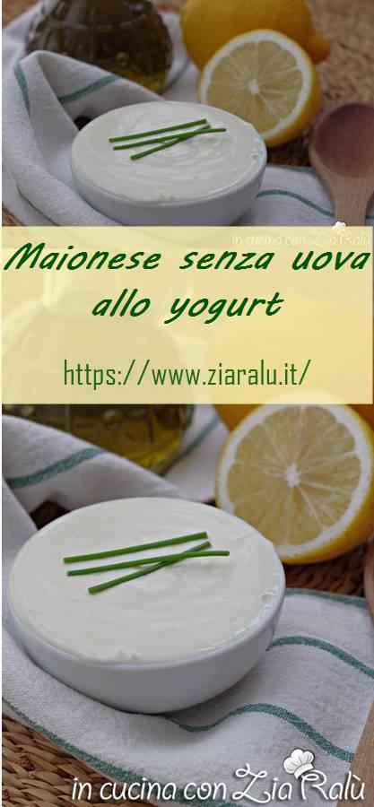 maionese senza uova allo yogurt