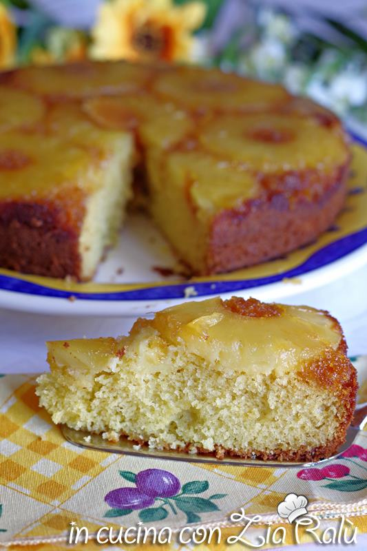 torta rovesciata all'ananas senza lattosio