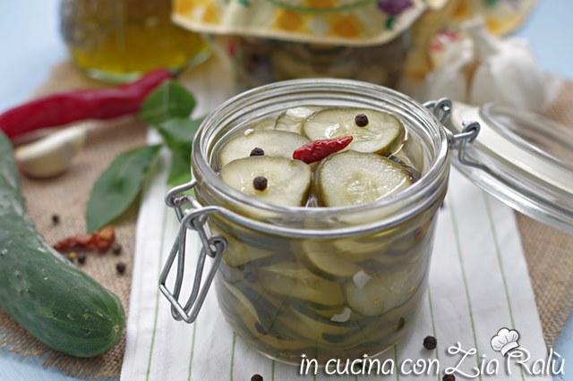 Cetrioli in agrodolce – conserva salata