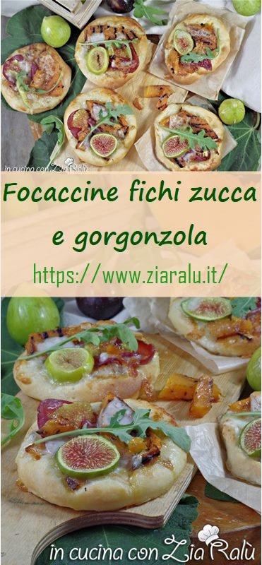 focaccine fichi zucca e gorgonzola
