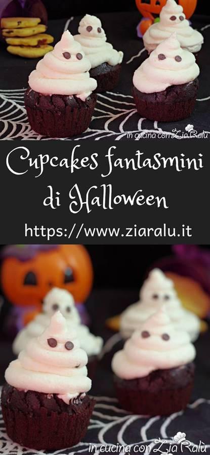 cupcakes al cacao fantasmini