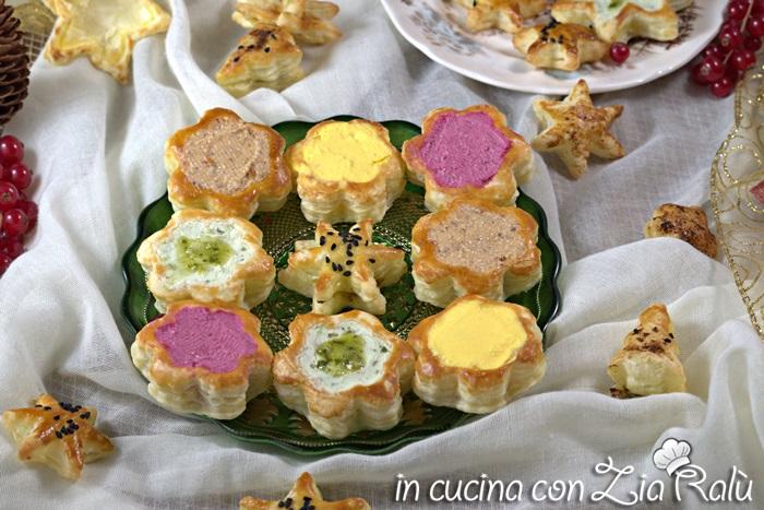 Vol au vent (Voulevant) colorati salati – Antipasto