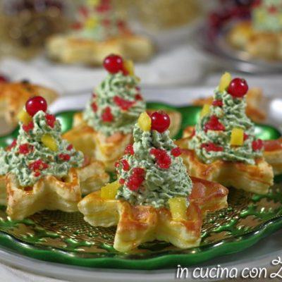 Alberelli di mousse - antipasto di Natale