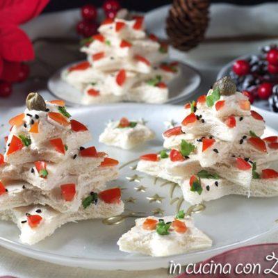 alberelli di pancarré sono un antipasto di Natale