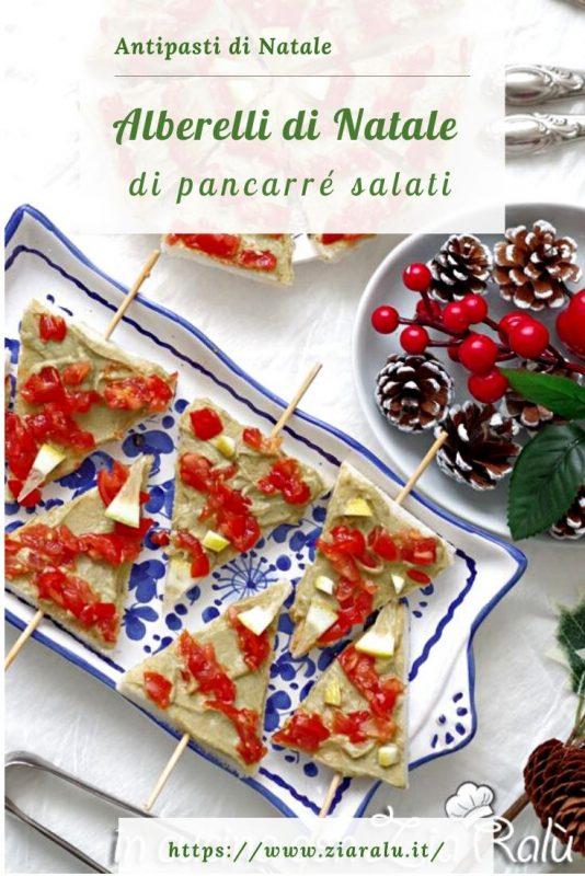 Alberelli di Natale - antipasto natalizio avocado e pomodorini