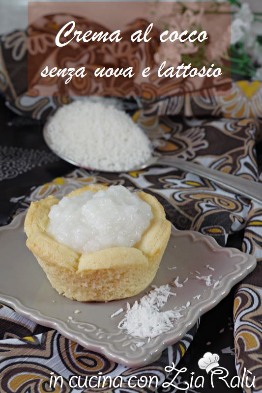 crema al cocco senza uova