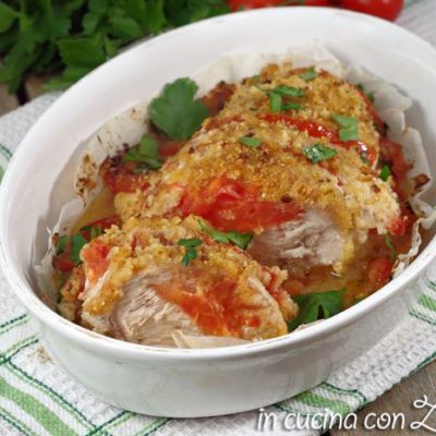 petto di pollo al forno gratinato