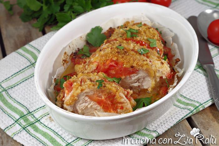 Petto di pollo al forno gratinato ricetta light