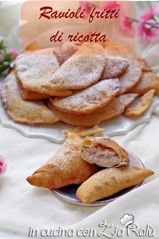 ravioli fritti di ricotta dolci