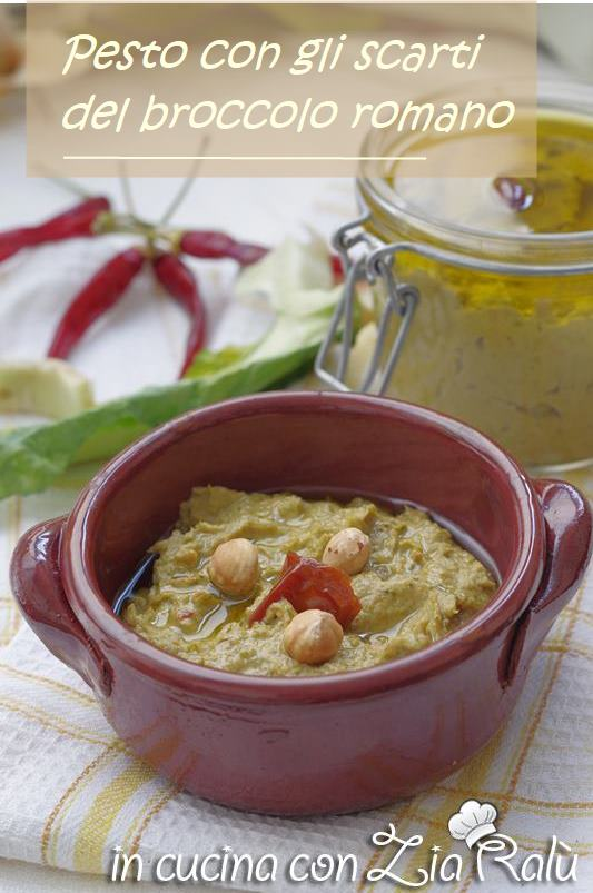pesto con gli scarti del broccolo e pomodori secchi sott'olio ricetta anti spreco