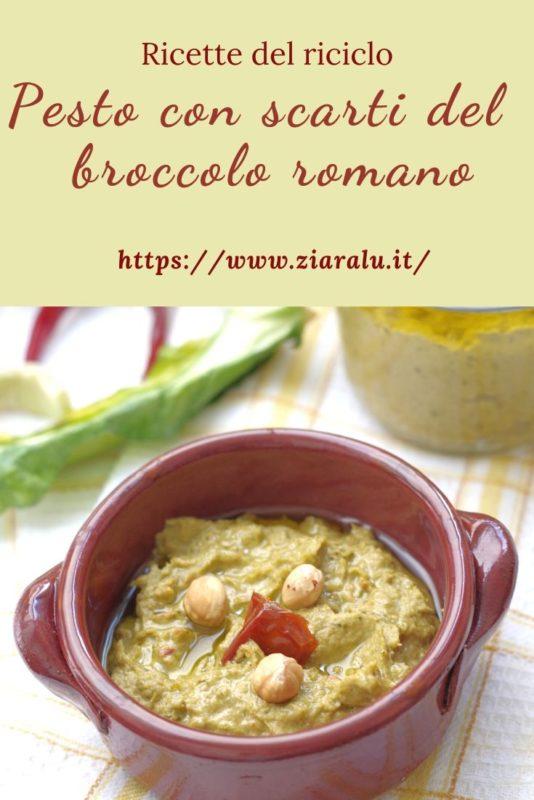pesto con scarti del broccolo e pomodori secchi