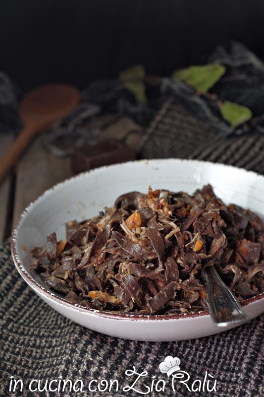 Fettuccine al cacao con ragù di coniglio