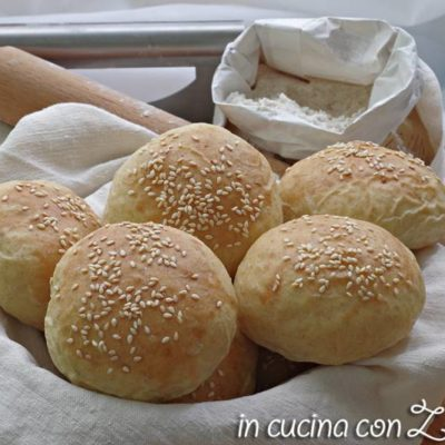 panini per hamburger burger buns senza lattosio