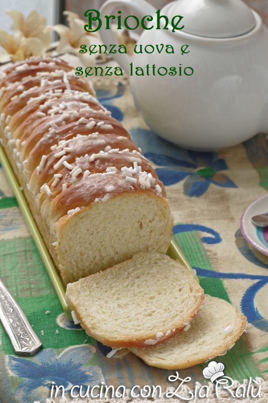 Il plum-cake di brioche senza uova e lattosio è un dolce soffice