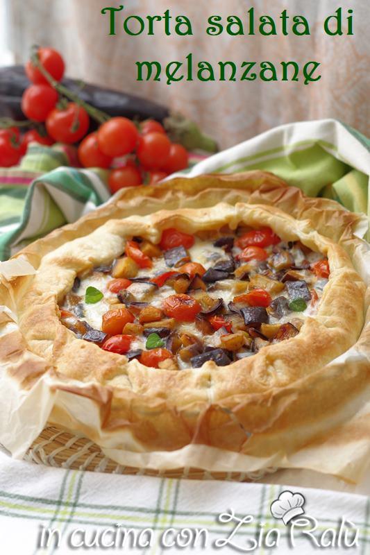 Torta salata melanzane e pomodori