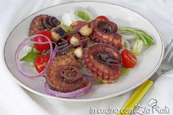 Polpo fritto (arricciato) ricetta pugliese