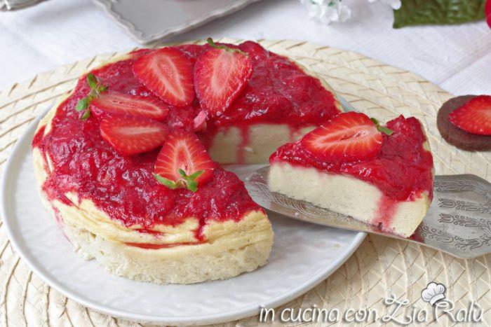 cheesecake al forno senza base di biscotti