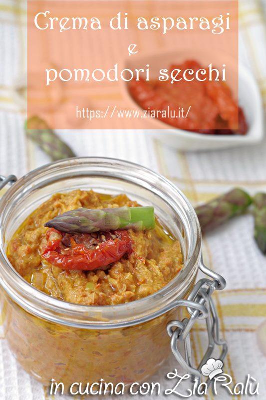 crema di asparagi e pomodori secchi sott'olio condimento per la pasta