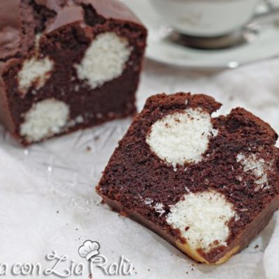 plumcake cacao e cocco a pois
