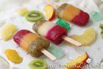 I ghiaccioli alla frutta fresca e sciroppata