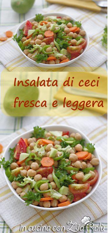 insalata di ceci e pomodori light