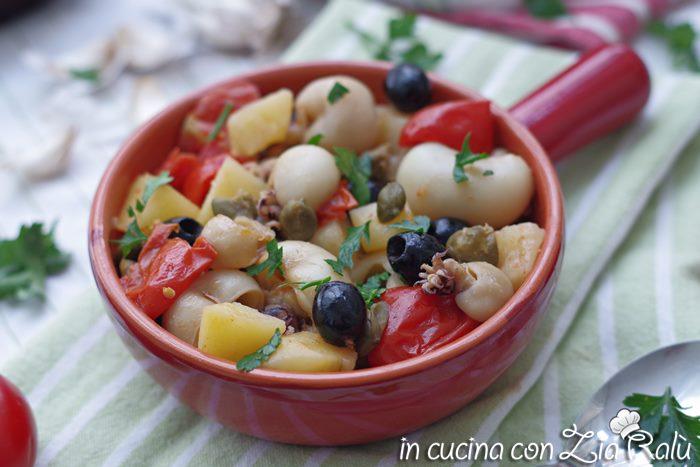 Seppioline e patate alla mediterranea