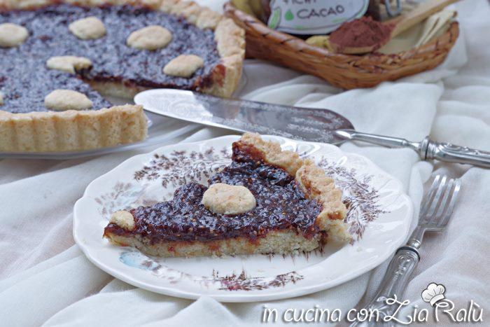 Crostata con confettura di fichi e cacao