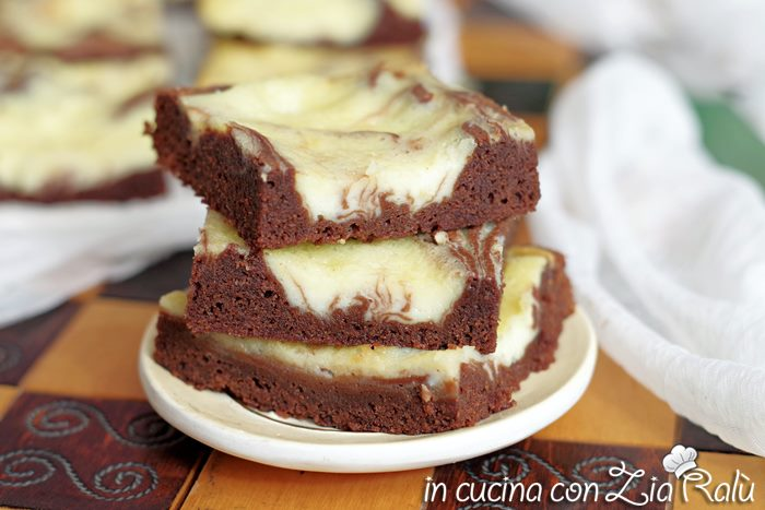 Brownies e mascarpone – Cream cheese brownies