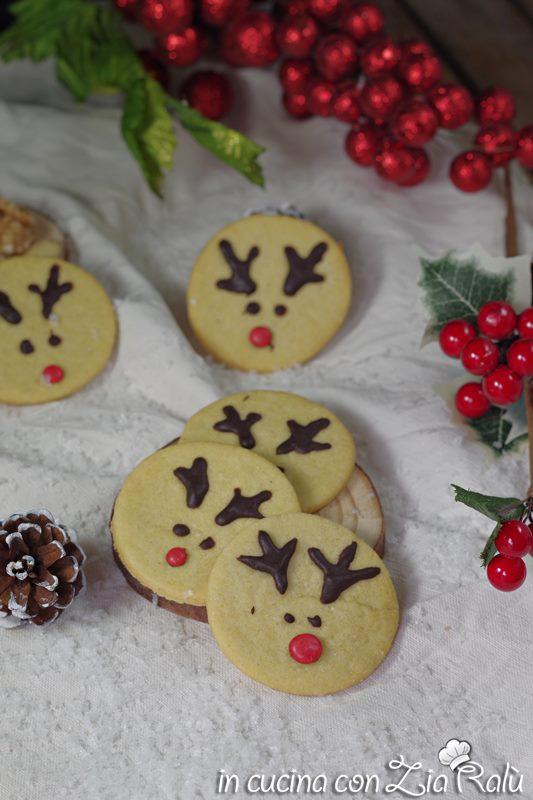 biscotti natalizi renna di babbo Natale