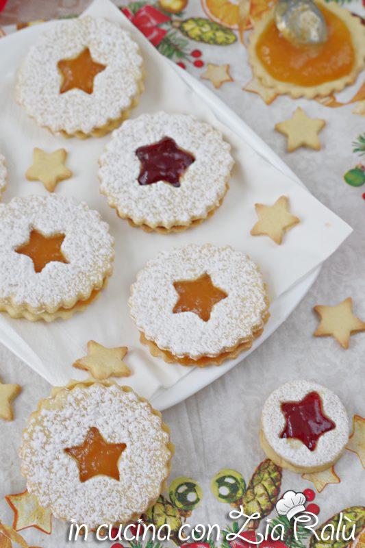 biscotti natalizi all'arancia con confettura