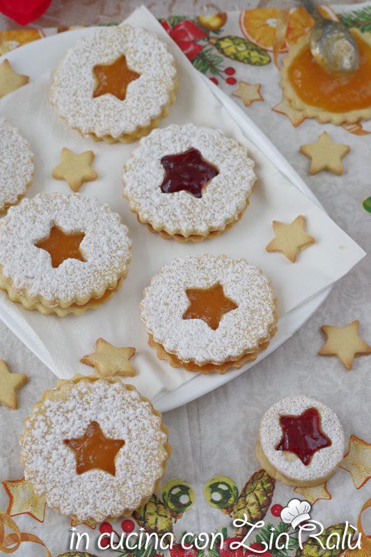 biscotti natalizi con confettura
