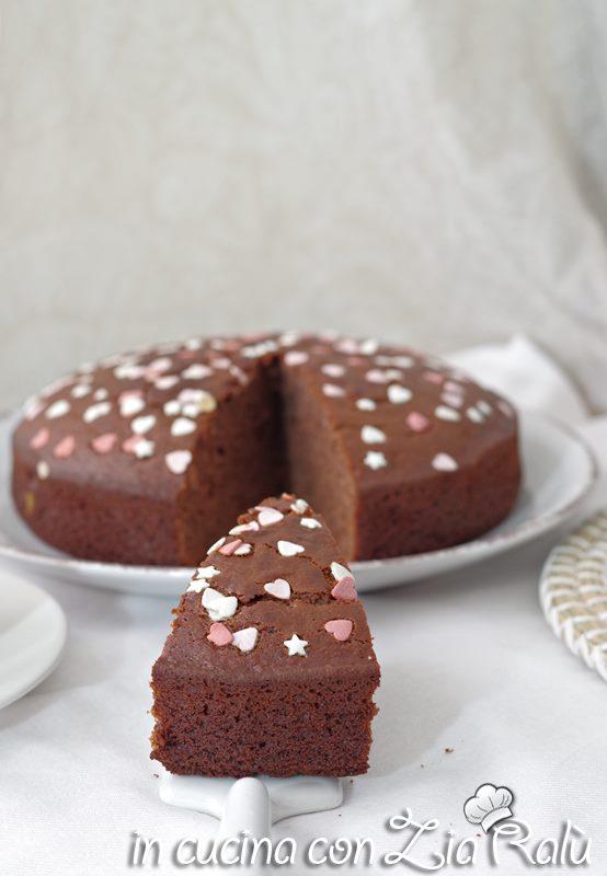 torta ricotta e Nesquik all'olio