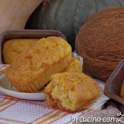 plumcake al cocco e zucca mini