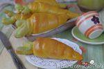 Le brioche senza uova a forma di carota sono innanzi tutto delle brioche dolci all'olio, senza uova, senza lattosio, non sfogliate, e la cui forma è simile a delle carote.