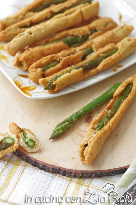 Asparagi fritti in crosta di frolla salata